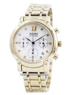 Seiko Chronograph Quartz Crystals SRW836 SRW836P1 SRW836P Women's Watch
