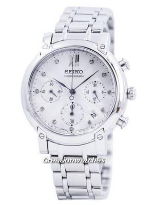 Seiko Chronograph Quartz Crystals SRW837 SRW837P1 SRW837P Women's Watch