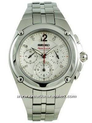 Seiko Sportura Chronograph Ladies Diamond SRW895P1 SRW895P SRW895 Watch