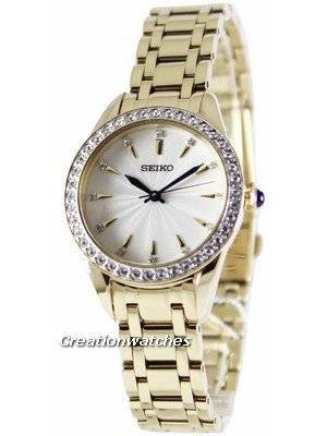Seiko Quartz Swarovski Crystals SRZ386 SRZ386P1 SRZ386P Women's Watch