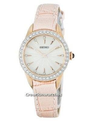 Seiko Quartz Swarovski Crystals SRZ388 SRZ388P1 SRZ388P Women's Watch