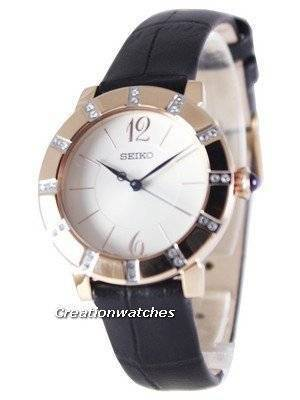 Seiko Quartz Swarovski Crystal Rose Gold SRZ456 SRZ456P1 SRZ456P Women's Watch