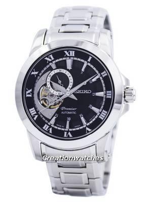 Seiko Premier Automatic 24 Jewels Open Heart Japan Made SSA215 SSA215J1 SSA215J Men's Watch