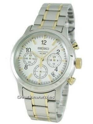 Seiko Chronograph Two Tone SSB009P1 SSB009 SSB009P Mens Watch