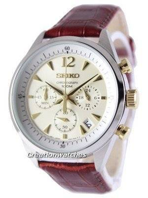 Seiko Chronograph Quartz 100M SSB069 SSB069P1 SSB069P Men's Watch