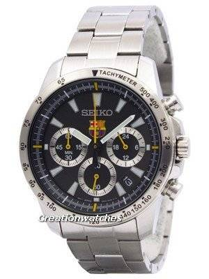 Seiko Quartz Chronograph FC Barcelona SSB073 SSB073P1 SSB073P Men's Watch