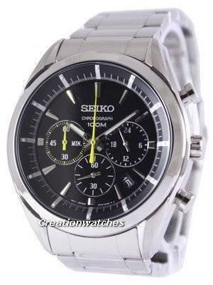 Seiko Chronograph Quartz 100M SSB087 SSB087P1 SSB087P Men's Watch