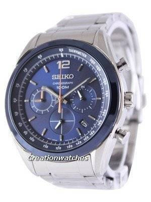 Seiko Chronograph Quartz 100M SSB091P1 SSB091P Men's Watch