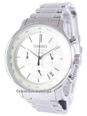 Seiko Chronograph Quartz Tachymeter SSB161 SSB161P1 SSB161P Men's Watch