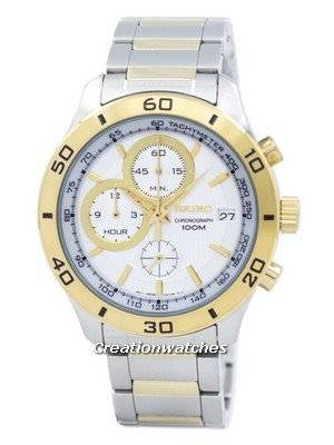 Seiko Chronograph Quartz Tachymeter SSB188 SSB188P1 SSB188P Men's Watch