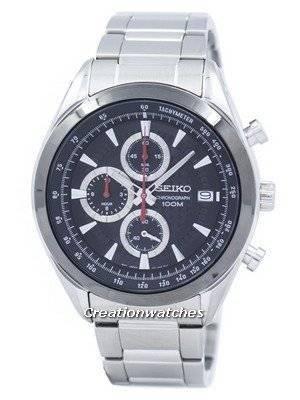 Seiko Chronograph Quartz Tachymeter SSB201 SSB201P1 SSB201P Men's Watch