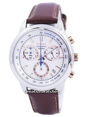 Seiko Chronograph Quartz Tachymeter 100M SSB211 SSB211P1 SSB211P Men's Watch