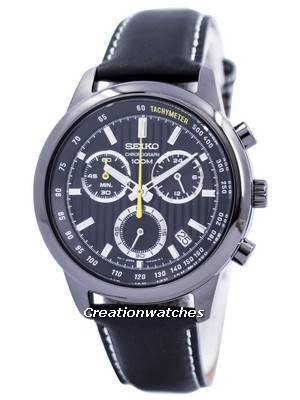 Seiko Quartz Chronograph Tachymeter 100M SSB213 SSB213P1 SSB213P Men's Watch