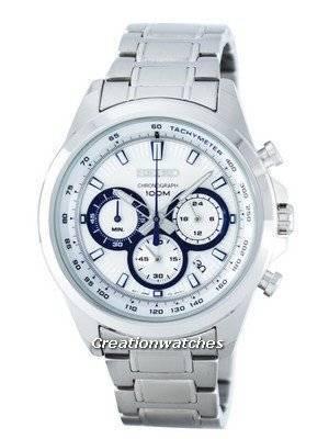 Seiko Chronograph Quartz Tachymeter SSB239 SSB239P1 SSB239P Men's Watch