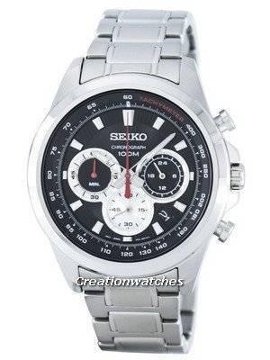 Seiko Chronograph Quartz Tachymeter SSB241 SSB241P1 SSB241P Men's Watch