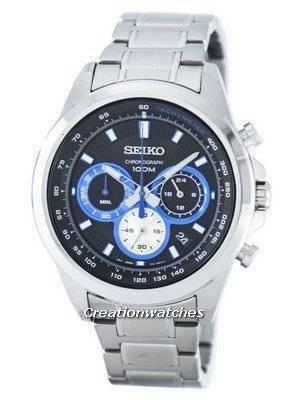 Seiko Chronograph Quartz Tachymeter SSB243 SSB243P1 SSB243P Men's Watch