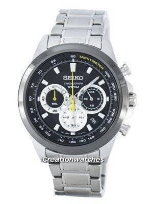 Seiko Chronograph Quartz Tachymeter SSB247 SSB247P1 SSB247P Men's Watch
