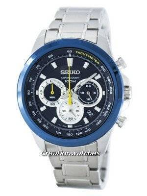 Seiko Chronograph Quartz Tachymeter SSB251 SSB251P1 SSB251P Men's Watch