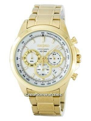 Seiko Chronograph Quartz Tachymeter SSB254 SSB254P1 SSB254P Men's Watch