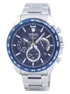 Seiko Chronograph Tachymeter Quartz SSB301 SSB301P1 SSB301P Men's Watch