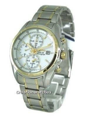 Seiko Solar Chronograph SSC002 SSC002P1 SSC002P Men's Watch