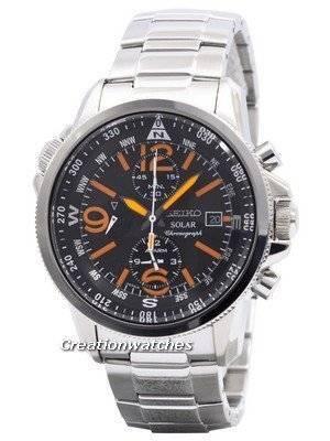 Seiko Solar Chronograph SSC077 SSC077P1 SSC077P Men's Watch