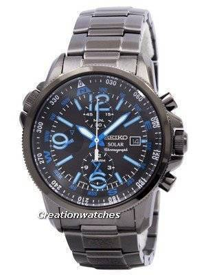 Seiko Solar Alarm Chronograph SSC079 SSC079P1 SSC079P Men's Watch