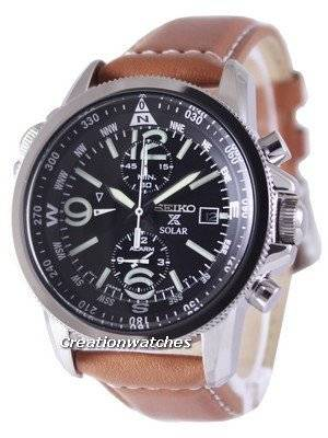 Seiko Solar Alarm Chronograph SSC081 SSC081P1 SSC081P Men's Watch