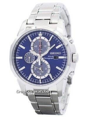 Seiko Solar Alarm Chronograph SSC085 SSC085P1 SSC085P Men's Watch