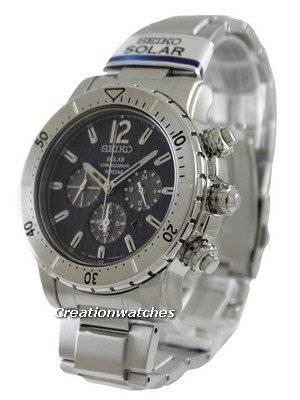 Seiko Solar Chronograph SSC221 SSC221P1 SSC221P Men's Watch