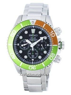 Seiko Solar Chronograph Diver's 200M SSC237 SSC237P1 SSC237P Men's Watch