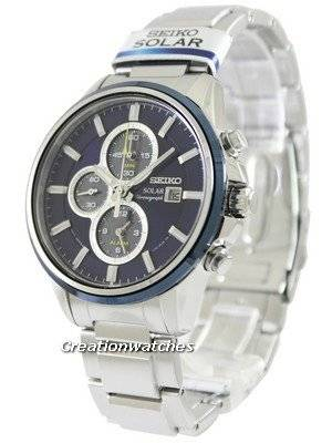 Seiko Solar Chronograph SSC253 SSC253P1 SSC253P Men's Watch