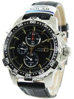 Seiko Solar Alarm Chronograph SSC303 SSC303P1 SSC303P Men's Watch