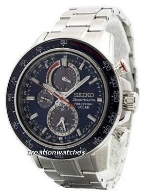 Seiko Sportura Solar Chronograph Perpetual SSC355 SSC355P1 SSC355P Men's Watch