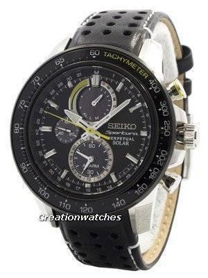 Seiko Sportura Solar Chronograph Perpetual SSC361 SSC361P1 SSC361P Men's Watch