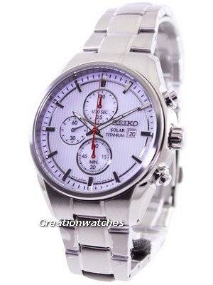 Seiko Solar Titanium Chronograph SSC363 SSC363P1 SSC363P Men's Watch