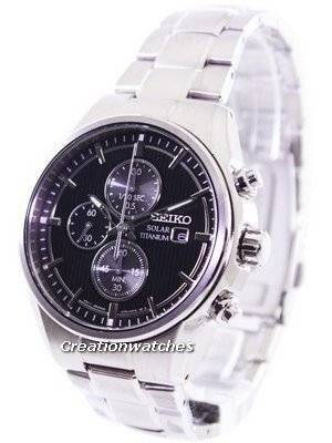 Seiko Solar Titanium Chronograph SSC367 SSC367P1 SSC367P Men's Watch