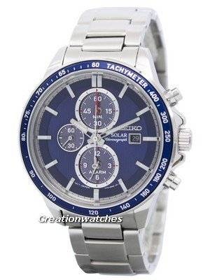 Seiko Solar Chronograph Alarm SSC431 SSC431P1 SSC431P Men's Watch