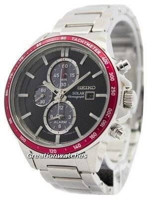 Seiko Solar Chronograph Alarm SSC433 SSC433P1 SSC433P Men's Watch