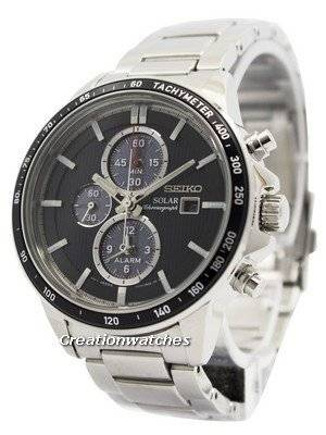 Seiko Solar Chronograph Alarm SSC435 SSC435P1 SSC435P Men's Watch