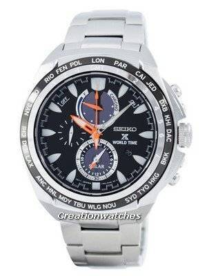 Seiko Prospex Solar World Time Chronograph Power Reserve SSC487 SSC487P1 SSC487P Men's Watch