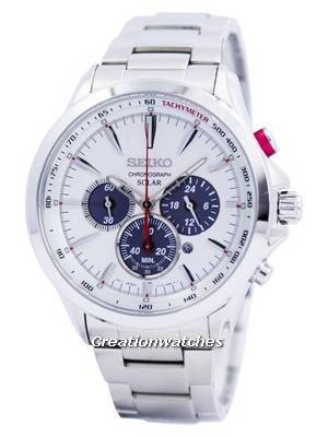 Seiko Solar Chronograph Tachymeter SSC491 SSC491P1 SSC491P Men's Watch