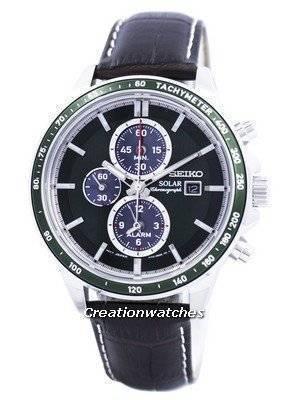 Seiko Solar Alarm Chronograph SSC501 SSC501P1 SSC501P Men\'s Watch