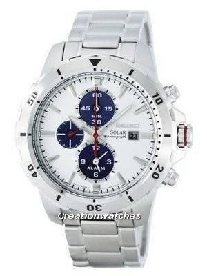Seiko Solar Chronograph Alarm SSC553 SSC553P1 SSC553P Men's Watch