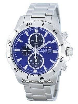 Seiko Solar Chronograph Alarm SSC555 SSC555P1 SSC555P Men's Watch