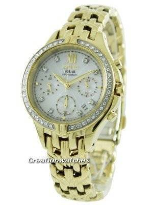 Seiko Core Solar Chronograph Swarovski Crystals SSC876P1 SSC876P Women's Watch