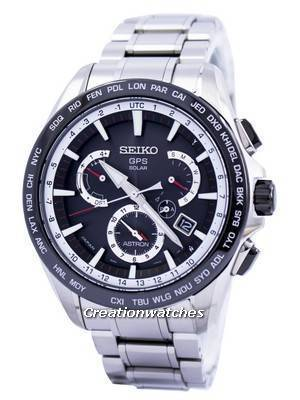 Seiko Astron GPS Solar Dual Time Japan Made SSE051 SSE051J1 SSE051J Men's Watch