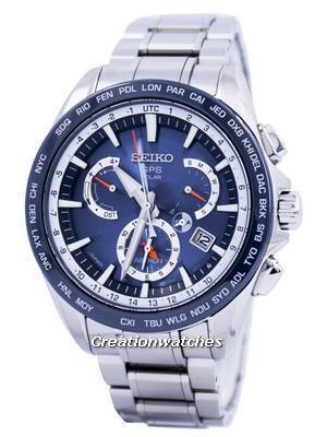 Seiko Astron GPS Solar Dual Time Japan Made SSE053 SSE053J1 SSE053J Men's Watch