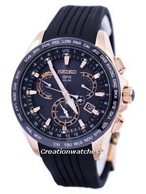 Seiko Astron GPS Solar Dual Time Japan Made SSE055 SSE055J1 SSE055J Men's Watch