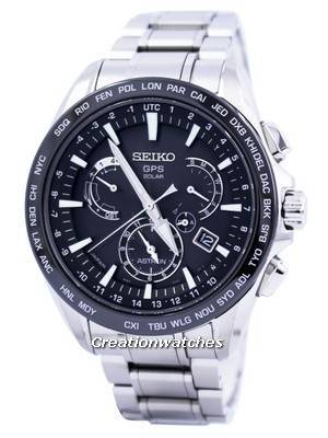 Seiko Astron GPS Solar Dual Time Japan Made SSE077 SSE077J1 SSE077J Men's Watch
